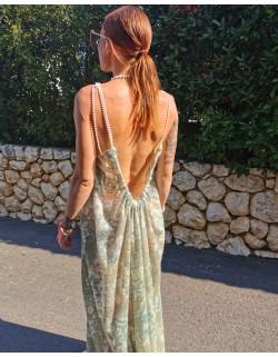 Sukienka Maxi z koralikami