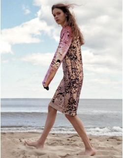 Dwukolorowa cekinowa sukienka