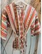 Krótkie Kimono Tulum Red
