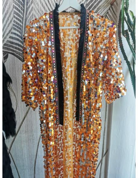 Cekinowe Kimono Orange