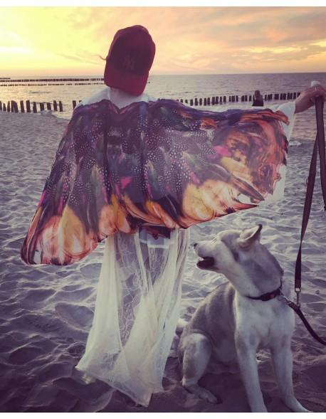 Koronkowe kimono skrzydła