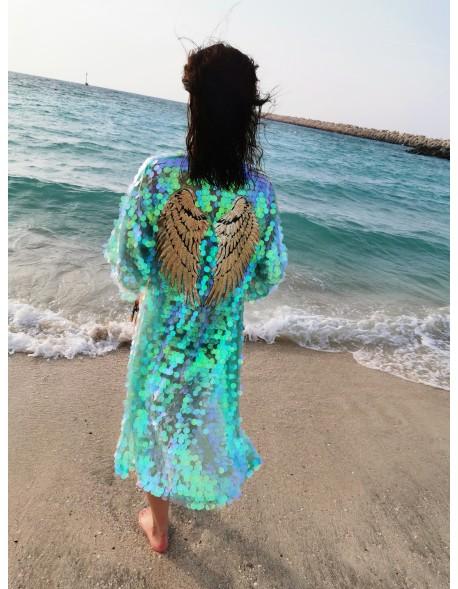 Cekinowe kimono Mint Wings
