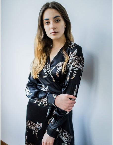 Suknia jedwabna Koty Czarna
